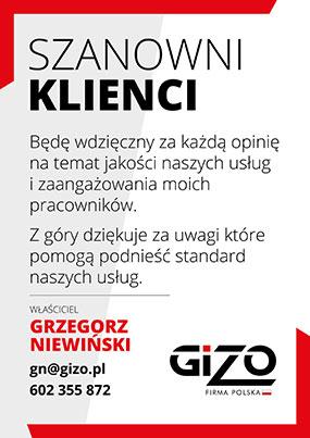 GIZO Grzegorz Niewiński opinie